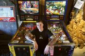 Landyacthz employee Jeff Radomsky is all about pinball and arcade culture. Photo Dan Toulgoet